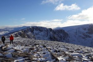 Walkers on the Cairngorm Plateau